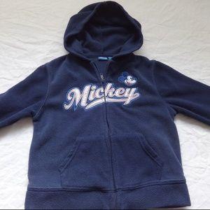 Disney Kids Blue Mickey Zipper Hoodie Size XS